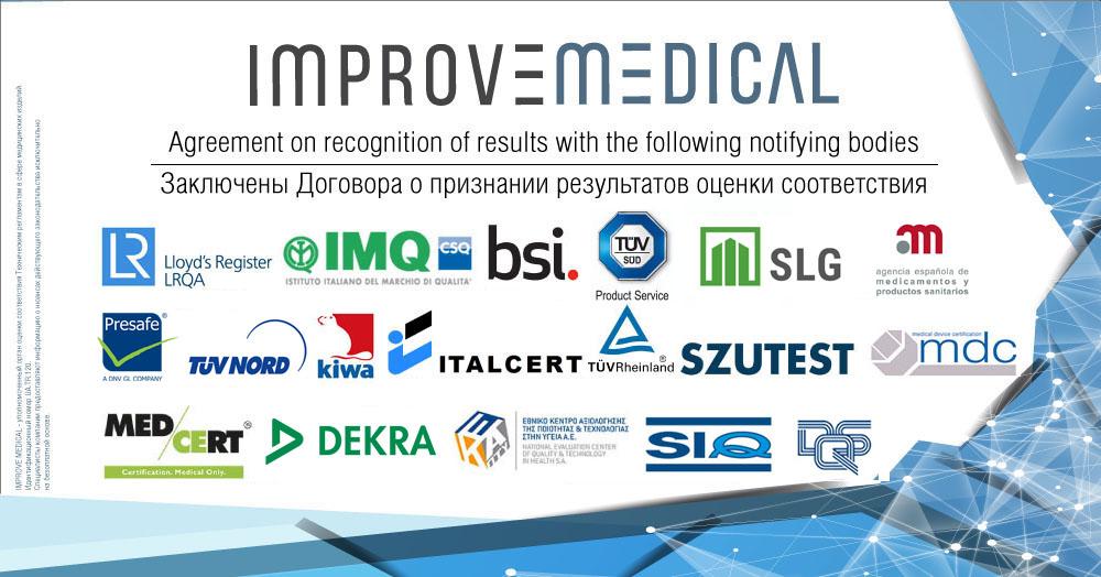 Improve Medical заключает соглашения с крупнейшими Нотифицированными Органами Европы о признании результатов оценки соответствия медизделий