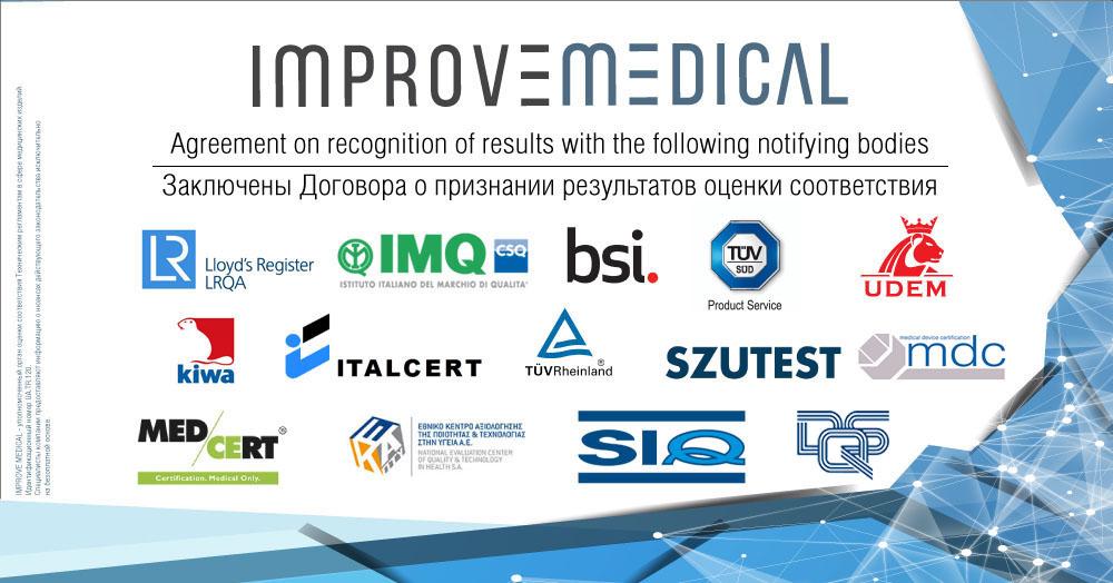 Improve Medical укладає угоди з найбільшими Нотифікованими Органами Європи про визнання результатів оцінки відповідності медвиробів